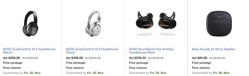 Microsoft 官方 eBay 店:Bose 等品牌耳机类商品 - 额外8折优惠!超值价格!