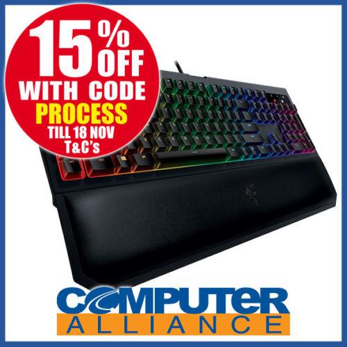 RAZER 雷蛇 BlackWidow Chroma V2 RGB 游戏机械键盘 – 85折优惠!