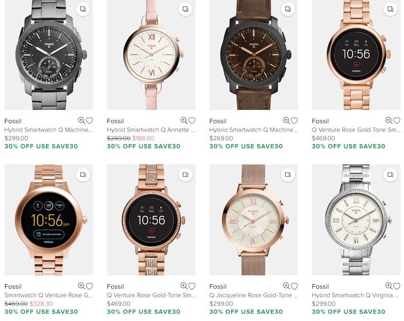 Fossil Q 系列 时尚智能手表 - 7折优惠!