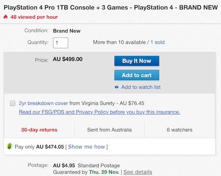SONY 索尼 PlayStation PS4 Pro 1TB 游戏主机 + 3个游戏套装 - 95折优惠!