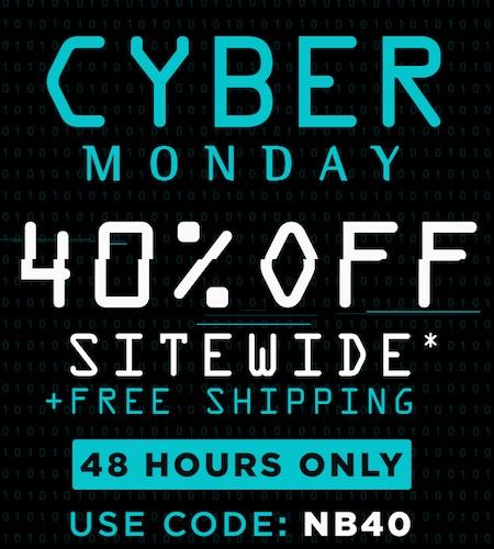 运动品牌 New Balance 澳洲官网 Cyber Monday 活动:全场所有正价商品 - 6折优惠!