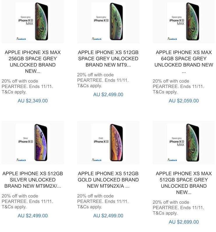 [Au Stock] 苹果 Apple iPhone XS / XS MAX 系列智能手机 - 8折优惠!