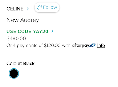 CELINE New Audrey 方形太阳镜 - 8折优惠!