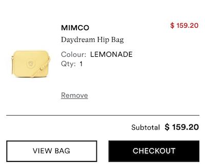 MIMCO Daydream Hip Bag 黄色小方包 - 8折优惠!