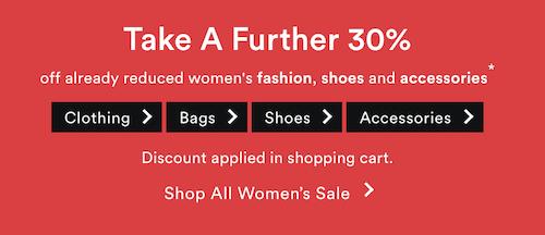 澳洲商城 David Jones:部分精选女款时尚服饰类商品 – 额外7折优惠!