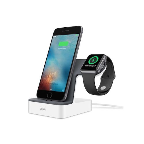 贝尔金 Belkin PowerHouse 2合1 iPhone 及 Apple Watch 充电基座 –