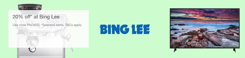 澳洲电子产品及电器销售商 Bing Lee eBay 店:部分精选商品 – 额外8折优惠!
