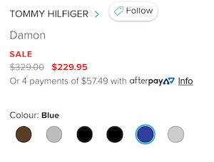 TOMMY HILFIGER 男款不锈钢网眼手表 7折优惠!