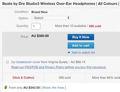 Beats Studio3 Wireless 头戴式无线降噪耳机 多色可选– 8折优惠!