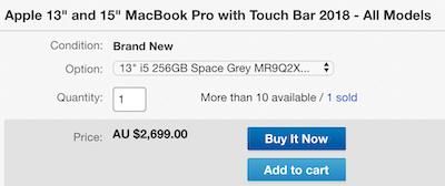 苹果 Apple 13寸及15寸 MacBook Pro with Touch Bar 2018款 笔记本电脑 - 85折优惠!
