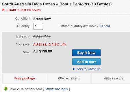 McWilliam's, Malindi 及 Penfolds 等品牌红酒 共13瓶 - 低至4折优惠!