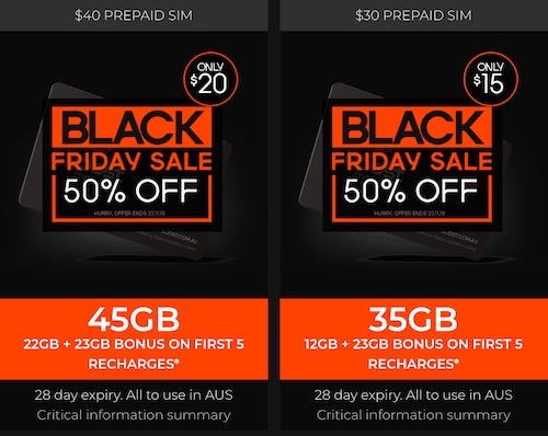 Boost Mobile 黑五活动:30刀及40刀的 Unlimited Prepaid 套餐 - 现首月半价优惠!