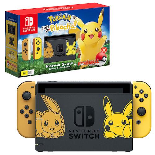 Nintendo 任天堂 Switch 游戏主机  皮卡丘限定版 – 9折优惠!