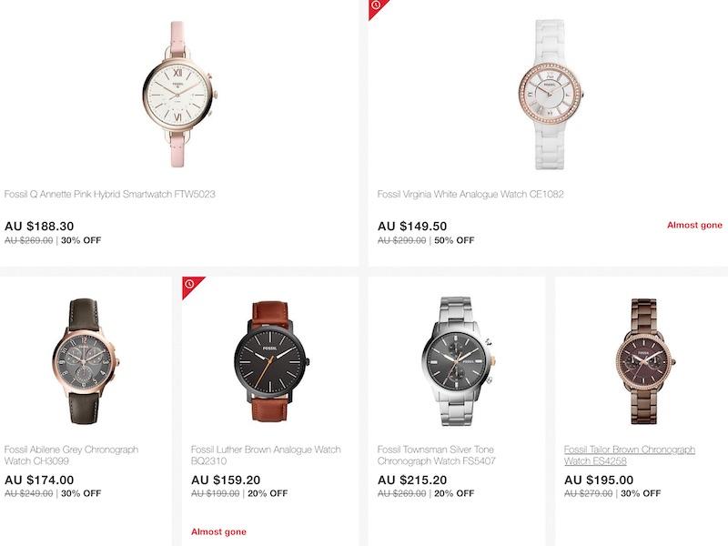 部分精选 Fossil 品牌手表 - 用码后可享额外7折优惠!