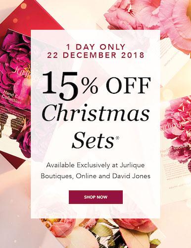 护肤品牌 Jurlique 茱莉蔻:圣诞套装系列商品 – 85折优惠!
