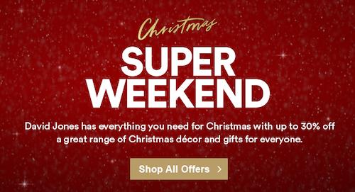 澳洲商城 David Jones 圣诞季活动:部分精选时尚服饰、鞋子等商品 –