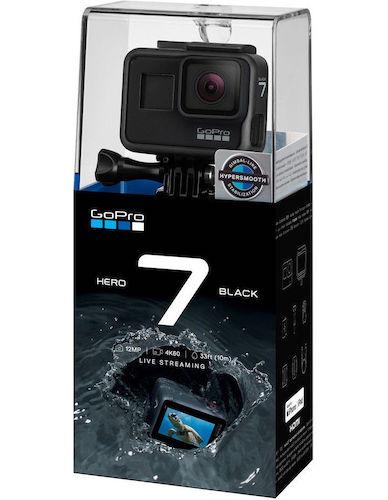 GoPro HERO7 Black 运动相机 4K高清防抖 防水 2018旗舰款 –8折优惠!