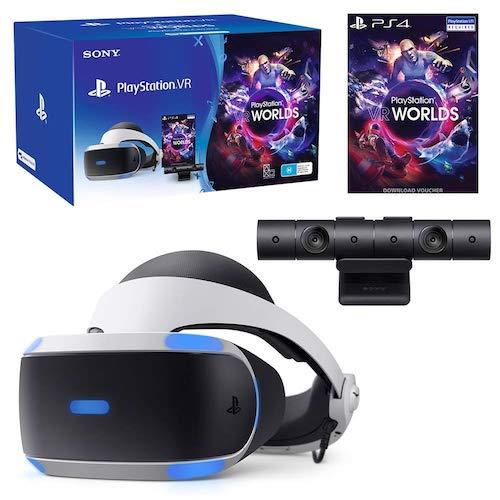 索尼 Sony PlayStation VR with Camera and VR Worlds Game (V2) 虚拟现实头盔套装 –
