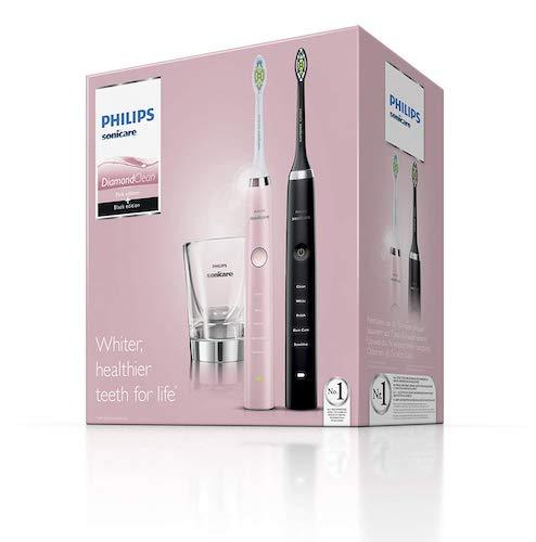 [Amazon Prime 会员] Philips 飞利浦 Sonicare HX9368/35 钻石亮白声波震动电动牙刷 两支装 - 5折优惠!
