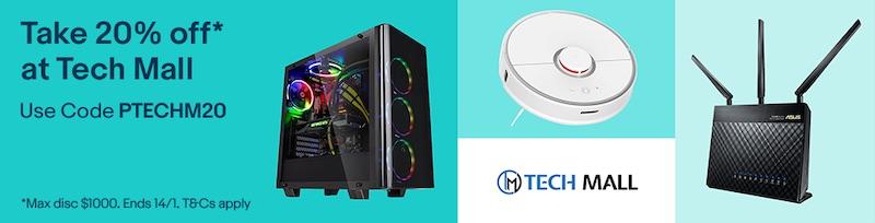 电子产品专卖商家 Tech Mall eBay 店:全场所有商品 – 8折优惠!