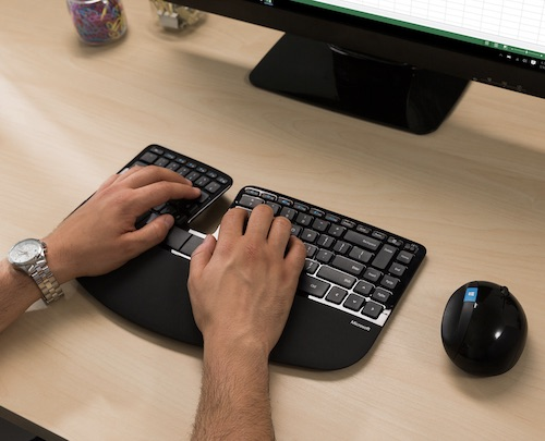 Microsoft 微软 Sculpt Ergonomic 人体工学无线键鼠套装 – 直降50刀!