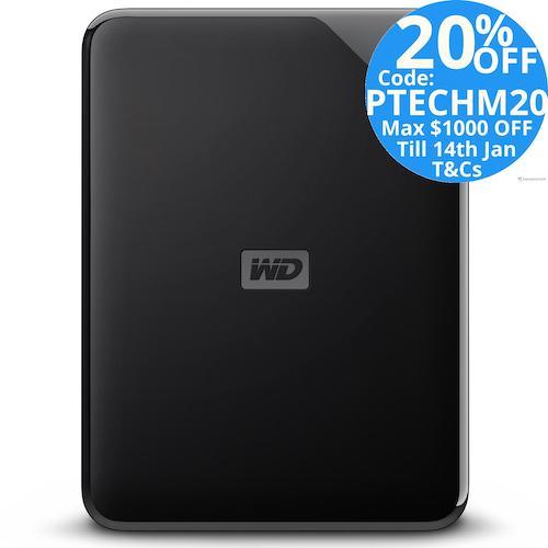Western Digital 西部数据 WD Elements 便携式移动硬盘 – 8折优惠!