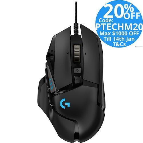 Logitech 罗技 G502 RGB炫光自适应 有线游戏鼠标 – 8折优惠!