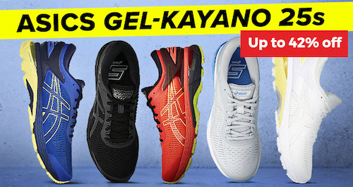 亚瑟士 ASICS GEL-Kayano 25s 跑鞋 – 低至58折优惠!