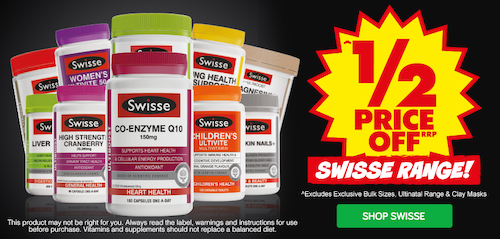 澳洲药房 Chemist Warehouse:Swisse 品牌保健品 –
