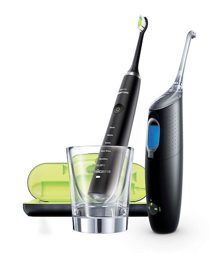 PHILIPS 飞利浦 HX8491/03 钻石系列 声波电动牙刷 + AirFloss 冲牙器 套装 – 相当于8折优惠!