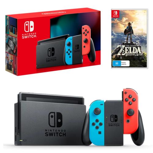 Nintendo 任天堂 Switch 游戏主机 + 《塞尔达传说:荒野之息》套装 – 85折优惠!