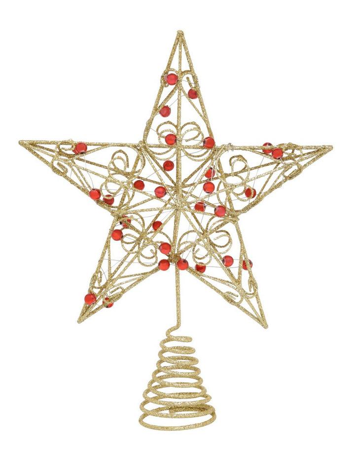 Myer Giftorium 圣诞节红色宝石星形树礼帽