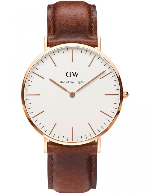 Daniel Wellington 40mm 玫瑰金男士腕表 8折优惠