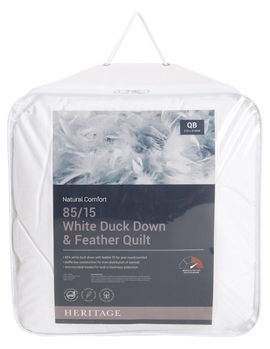 Heritage 85/15 White Duck Down & Feather Quilt 羽绒被 – 6折优惠!