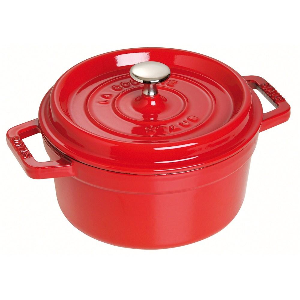 Staub 樱桃红 26cm 圆形铸铁锅
