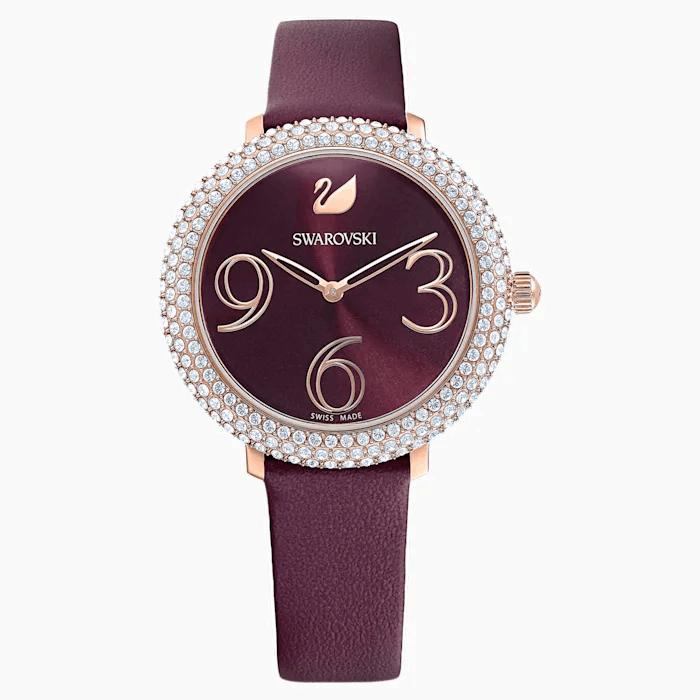 Swarovski 施华洛世奇 水晶霜深红色手表