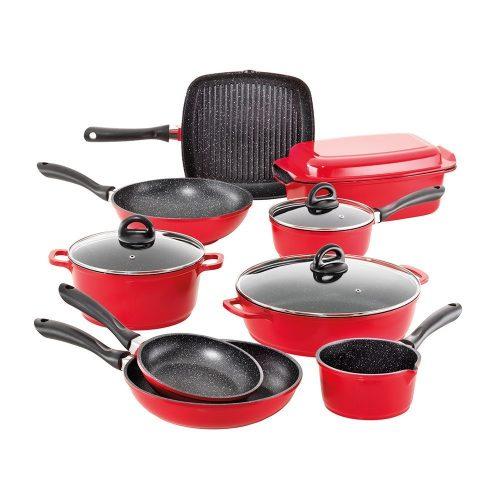 Baccarat Stone 不粘锅具10件套红色款 – 低至2折优惠!