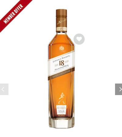 Johnnie Walker 尊尼获加 18年调和威士忌 750ml - 77折优惠!