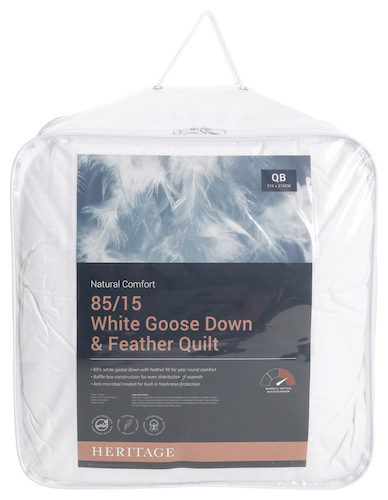 Heritage 85/15 White Goose Down & Feather Quilt 鹅绒羽绒被 – 6折优惠!