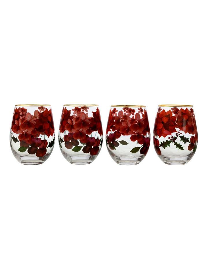 Maxwell & Williams 花卉玻璃杯 500毫升 4件套