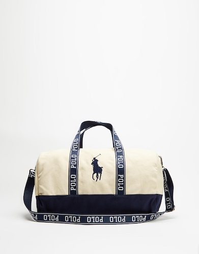 Polo Ralph Lauren 拉夫劳伦 Logo Canvas Duffle Bag 帆布包 – 75折优惠!